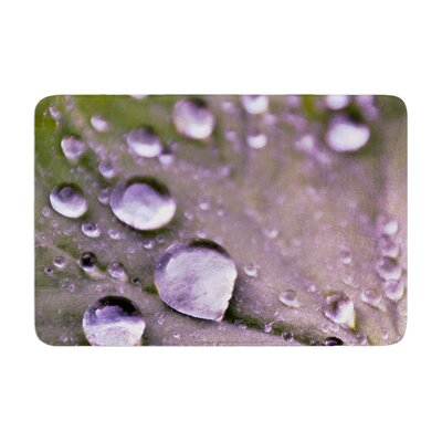 Iris Lehnhardt Water Droplets Memory Foam Bath Rug Color: Purple