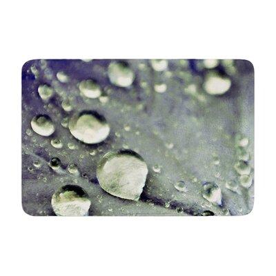 Iris Lehnhardt Water Droplets Memory Foam Bath Rug Color: Blue