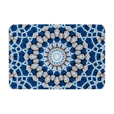 Iris Lehnhardt Mandala II Abstract Memory Foam Bath Rug