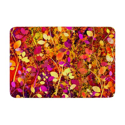 Ebi Emporium Amongst the Flowers Warm Sunset Memory Foam Bath Rug