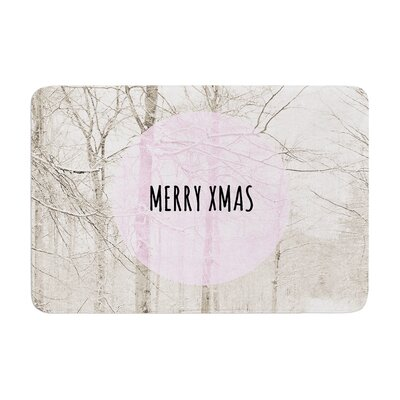 Iris Lehnhardt Merry Xmas Holiday Memory Foam Bath Rug