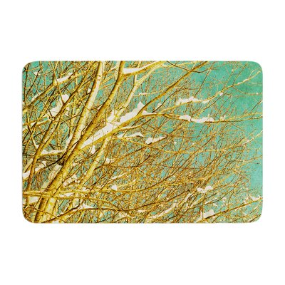 Iris Lehnhardt Snow Covered Twigs Memory Foam Bath Rug