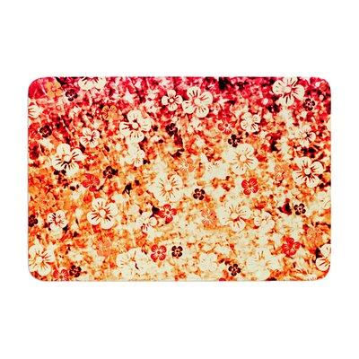 Ebi Emporium Flower Power Memory Foam Bath Rug Color: Orange