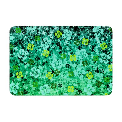 Ebi Emporium Luck of the Irish Floral Memory Foam Bath Rug