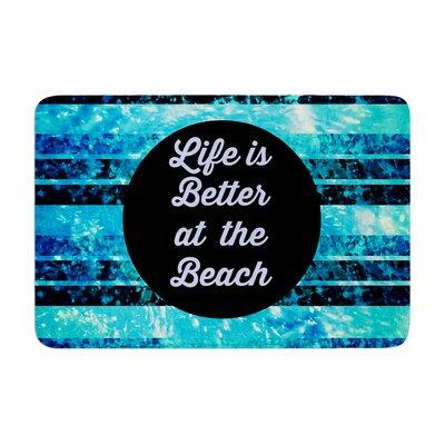 Ebi Emporium Life is Better at the Beach Memory Foam Bath Rug
