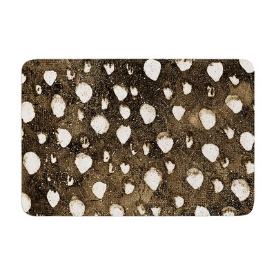 Iris Lehnhardt Dots Grunge Memory Foam Bath Rug