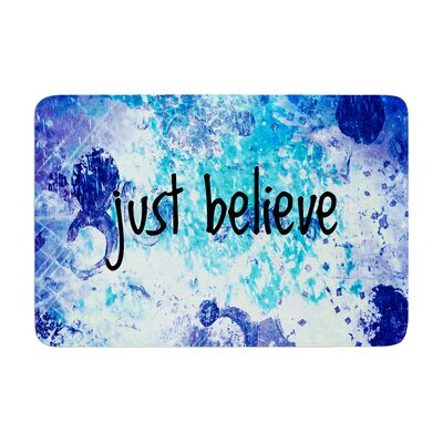 Ebi Emporium Just Believe Memory Foam Bath Rug