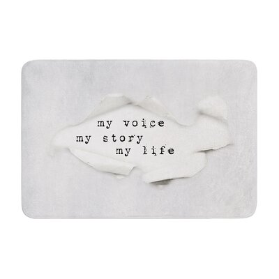 Ingrid Beddoes My Life Paper Text Memory Foam Bath Rug