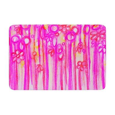 Ebi Emporium Spring Sensations Magenta Memory Foam Bath Rug
