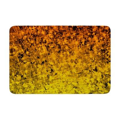 Ebi Emporium Romance Me in Tangerine Glitter Memory Foam Bath Rug Color: Gold