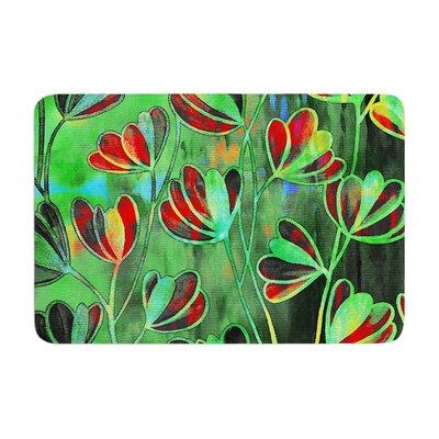 Ebi Emporium Efflorescence Deep Jewel Memory Foam Bath Rug Color: Red/Green