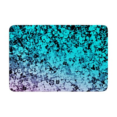 Ebi Emporium Flower Power Memory Foam Bath Rug Color: Aqua