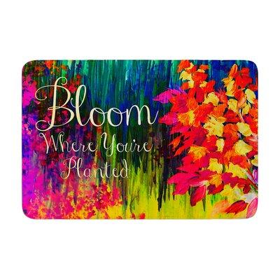 Ebi Emporium Bloom Where Youre Planted Floral Memory Foam Bath Rug