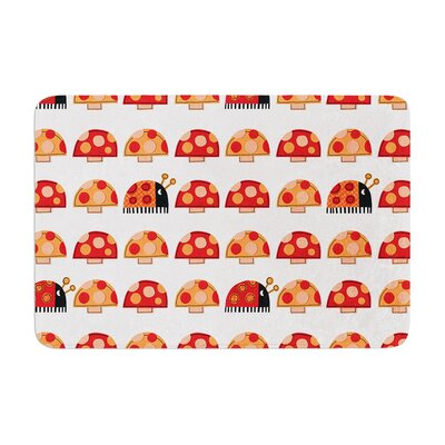 Jane Smith Garden Ladybugs Memory Foam Bath Rug