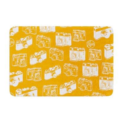 Camera Pattern KESS Memory Foam Bath Rug