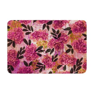 Ebi Emporium Grunge Flowers II Floral Memory Foam Bath Rug