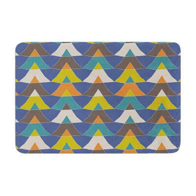 Julia Grifol Colorful Triangles Memory Foam Bath Rug