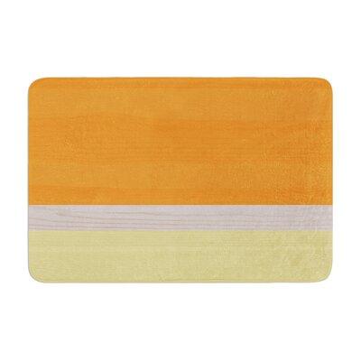 Spring Swatch Tangerine Custard Memory Foam Bath Rug
