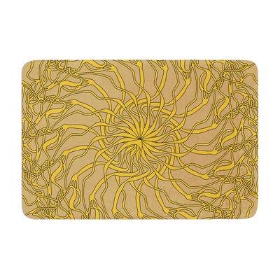 Patternmuse Mandala Spin Latte Memory Foam Bath Rug