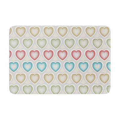 Julia Grifol My Hearts Memory Foam Bath Rug