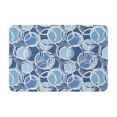 Julia Grifol Simple Circles Memory Foam Bath Rug Color: Blue