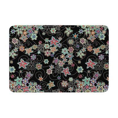 Julia Grifol My Small Flowers Floral Memory Foam Bath Rug
