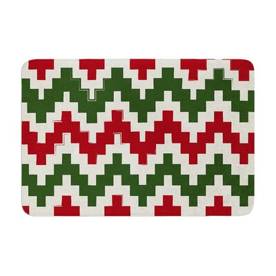 Christmas Gram Chevron Memory Foam Bath Rug