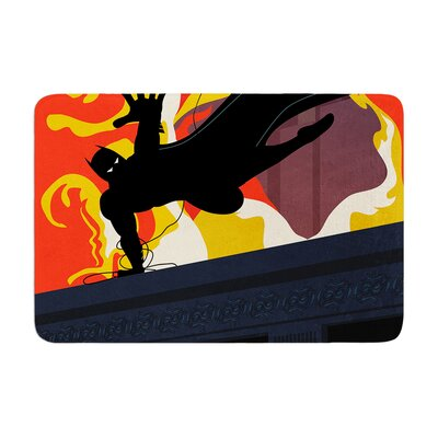 Kevin Manley Prodigal Son Batman Fire Memory Foam Bath Rug