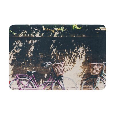 Laura Evans Pretty Bicycles Memory Foam Bath Rug