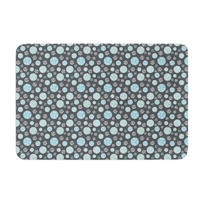 Julie Hamilton Midnight Snow Winter Memory Foam Bath Rug