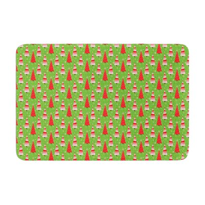 Julie Hamilton Juniper Christmas Trees Memory Foam Bath Rug