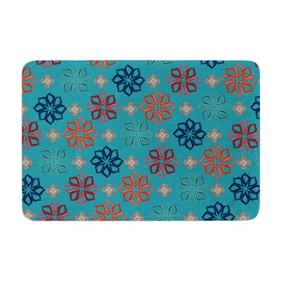 Jolene Heckman Mini Flowers Memory Foam Bath Rug