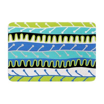 Jacqueline Milton Salsa Memory Foam Bath Rug Color: Blue/Aqua/Green