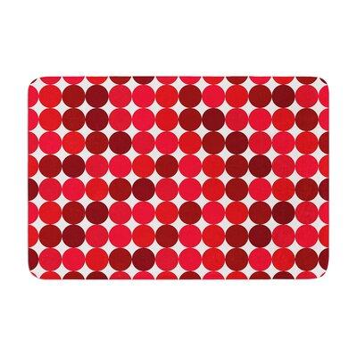 Noblefur Dots Memory Foam Color: Red