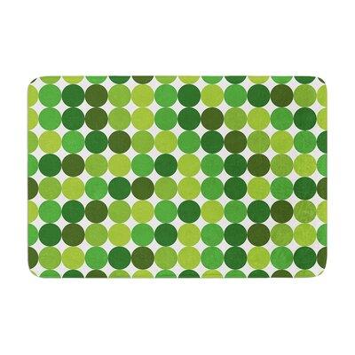 Noblefur Dots Memory Foam Color: Green