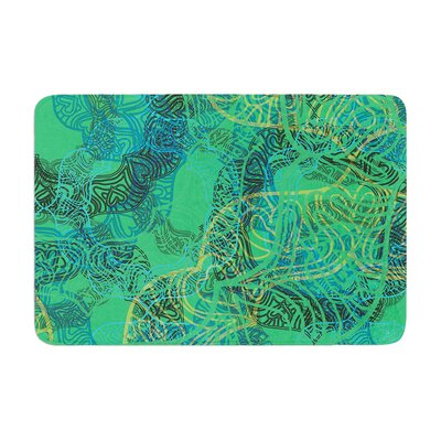 Patternmuse Mandala Abstract Memory Foam Bath Rug