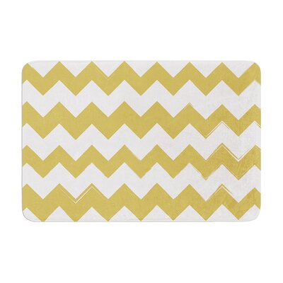 Candy Cane Memory Foam Bath Rug Color: Gold