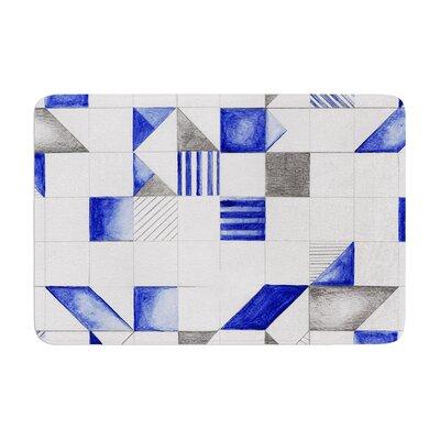 Kira Crees Winter Geometry Memory Foam Bath Rug