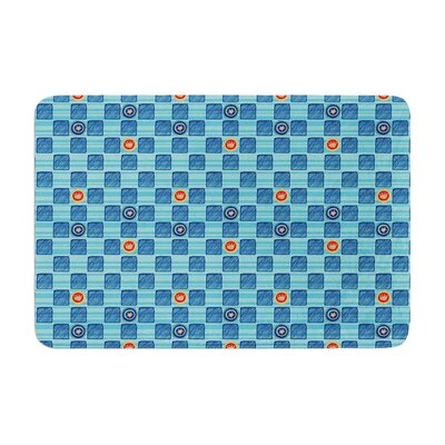 Jane Smith Vintage Checkerboard Memory Foam Bath Rug