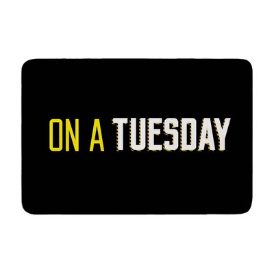Tuesday Typography Memory Foam Bath Rug
