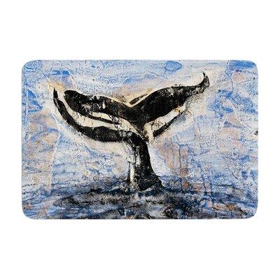 Josh Serafin Whale Tail Coastal Painting Memory Foam Bath Rug