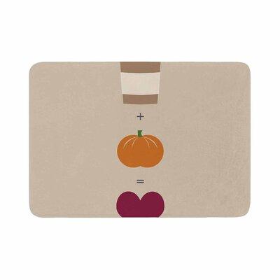 Pumpkin Spice Latte Memory Foam Bath Rug