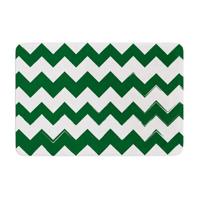 Candy Cane Memory Foam Bath Rug Color: Green