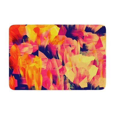 Kathryn Pledger Geo Flower Abstract Memory Foam Bath Rug