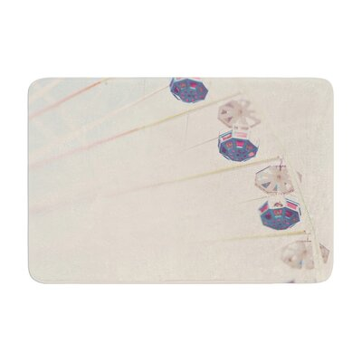 Laura Evans Its All a Blur Ferris Wheel Memory Foam Bath Rug