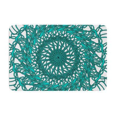 Patternmuse Mandala Spin Jade Memory Foam Bath Rug