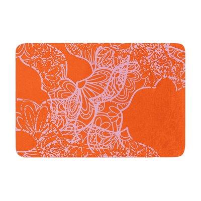 Patternmuse Mandala Pumpkin Memory Foam Bath Rug