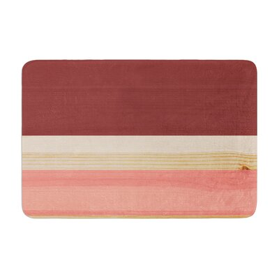 Spring Swatch Marsala Strawberry Memory Foam Bath Rug