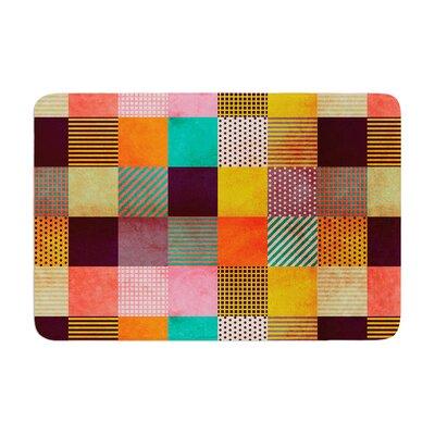 Louise Machado Decorative Pixel Warm Patches Memory Foam Bath Rug