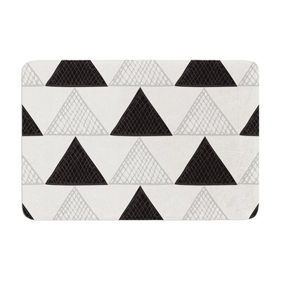 Laurie Baars Textured Triangles Geometric Abstract Memory Foam Bath Rug